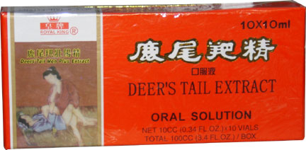 Deer's Tail Extract, 10 x 10 ml