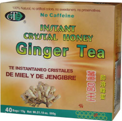 Instant Crystal Honey Ginger Tea, 40 bags