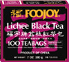 Foojoy Lichee Black Tea 100 tea bags