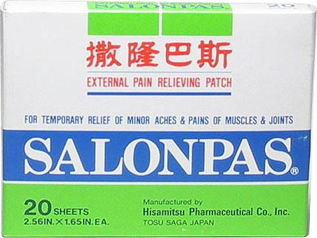 Salonpas Pain Relieving Patch, 20 sheets