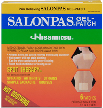 Salonpas Gel-patch, 6 pieces