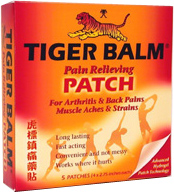 Tiger Balm Patch, 5 pieces