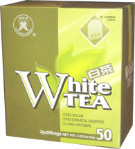 Chinese White Tea, 50 tea bags, 3.52 oz